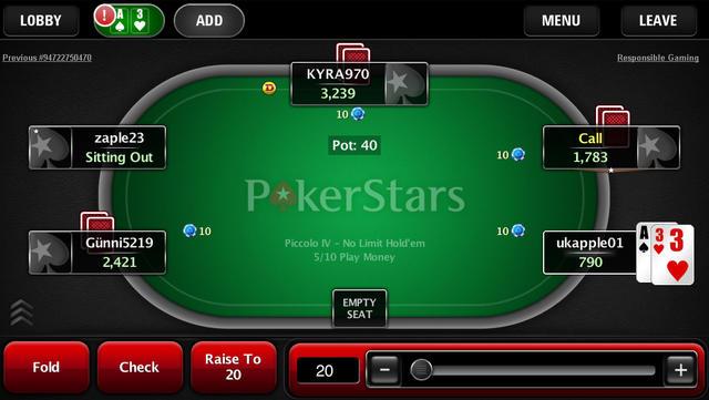 Обзор мобильного приложения Pokerstars