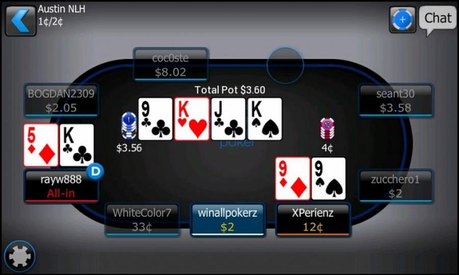 мобильный интерфейс 888покер на андроид