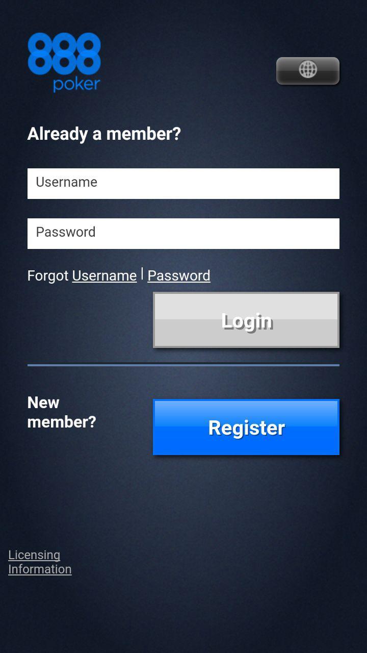 Регистрация 888покер